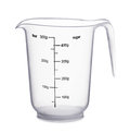 Empty beaker on a white background Royalty Free Stock Photography