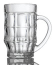 Empty beer glass Royalty Free Stock Photo