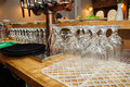 Empty beer glasses Royalty Free Stock Photo