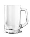 Empty beer mug isolated on white Royalty Free Stock Photo