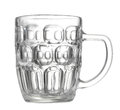 Empty beer mug on white background Stock Photo