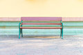 empty bench in park Royalty Free Stock Photo