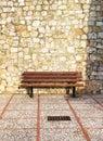 An Empty Bench, Stone Blocks B...