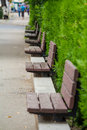 Empty benches Royalty Free Stock Photography