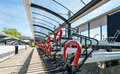 Empty bicycle parking Royalty Free Stock Photo