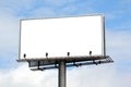 Empty billboard Royalty Free Stock Photo