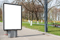Empty billboard or lightbox on city street Royalty Free Stock Photo