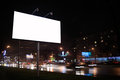 Empty billboard, by night Royalty Free Stock Photo