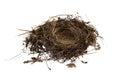 Empty Birds Nest Isolated On White Background Royalty Free Stock Photo