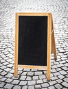 Empty black board Stock Image