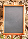 Empty black board Stock Images