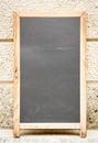 Empty black board menu board restaurant nice backgroud space text Stock Photos