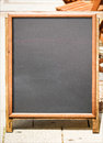 Empty black board menu board restaurant nice backgroud space text Stock Image