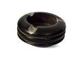 Empty black wood ashtray isolate on white background Royalty Free Stock Photography