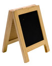 Empty blackboard menu stand isolated on white background Stock Images