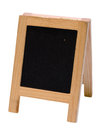 Empty blackboard menu stand isolated on white background Stock Photography