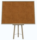 Empty blank cork board with wooden frame on white Stock Photos