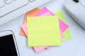 Empty blank note paper notepaper notes business concept copyspac Royalty Free Stock Photo