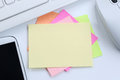 Empty blank note paper notepaper notes copyspace copy space info Royalty Free Stock Photo