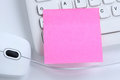 Empty blank pink notepaper note notes business concept copyspace Royalty Free Stock Photo