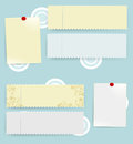 Empty blanks message s tickets vector eps Royalty Free Stock Photos