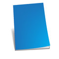 Empty blue brochure vector illustration Royalty Free Stock Photos