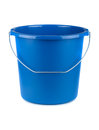 Empty blue bucket Royalty Free Stock Photo