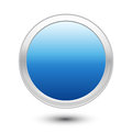 Empty blue button white background Royalty Free Stock Images