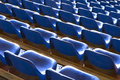 Empty Blue Seats At Sports Sta...
