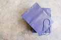 Empty blue shopping bag Royalty Free Stock Photo