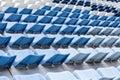 Empty Blue Stadium Seats Royalty Free Stock Photo