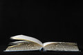 Empty book classic isolated over a black background Royalty Free Stock Image