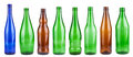 Empty bottles collection Royalty Free Stock Photo