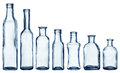 Empty bottles collection on white background Stock Photo