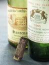 Empty bottles of vintage wine Royalty Free Stock Image