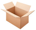 Empty box isolated on the white background with clipping path Royalty Free Stock Photo