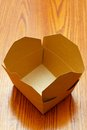 Empty box made from corrugated fibre board Stock Photo