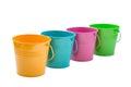 Empty bucket isolated on white background Royalty Free Stock Photography