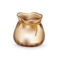 Empty burlap sack isolated on white Royalty Free Stock Photo