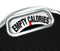 Empty calories word scale nutritional vs fast food eating the words on the display of a to illustrate the importance of foods for Stock Photo