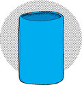 Empty can cooler blue insulated holder over halftone background Stock Image