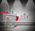 Empty cart, crisis of home finance Royalty Free Stock Photo