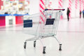 Empty cart in the supermarket Royalty Free Stock Photography