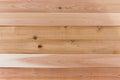 Empty Cedar Wood Wall with Horizontal Orientation Royalty Free Stock Photo