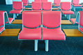 Empty chair at airport row of Royalty Free Stock Photography