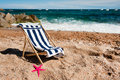Empty chair at the beach Royalty Free Stock Images