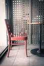 empty chair in coffee shop Royalty Free Stock Photo