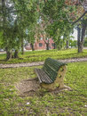 Empty Chair at Park Royalty Free Stock Photo