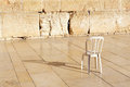 An empty chair at the Western Wall Jerusalem Royalty Free Stock Image