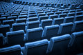 Empty Chairs. Blue Tone Stock Photo